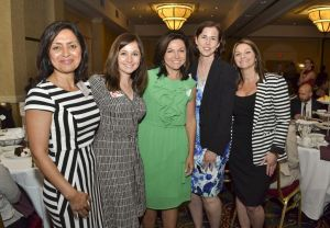 Susan escaped the camera at the WOE event but here are some of her WBC pals (L-R) Sujata Chaudhry, Brandi Miller, Paula Heller, Jennifer Regan, and Anissa Hochberg.