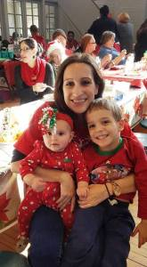 malissa-with-her-children-tyler-and-riley-volunteering-at-annual-resident-holiday-party