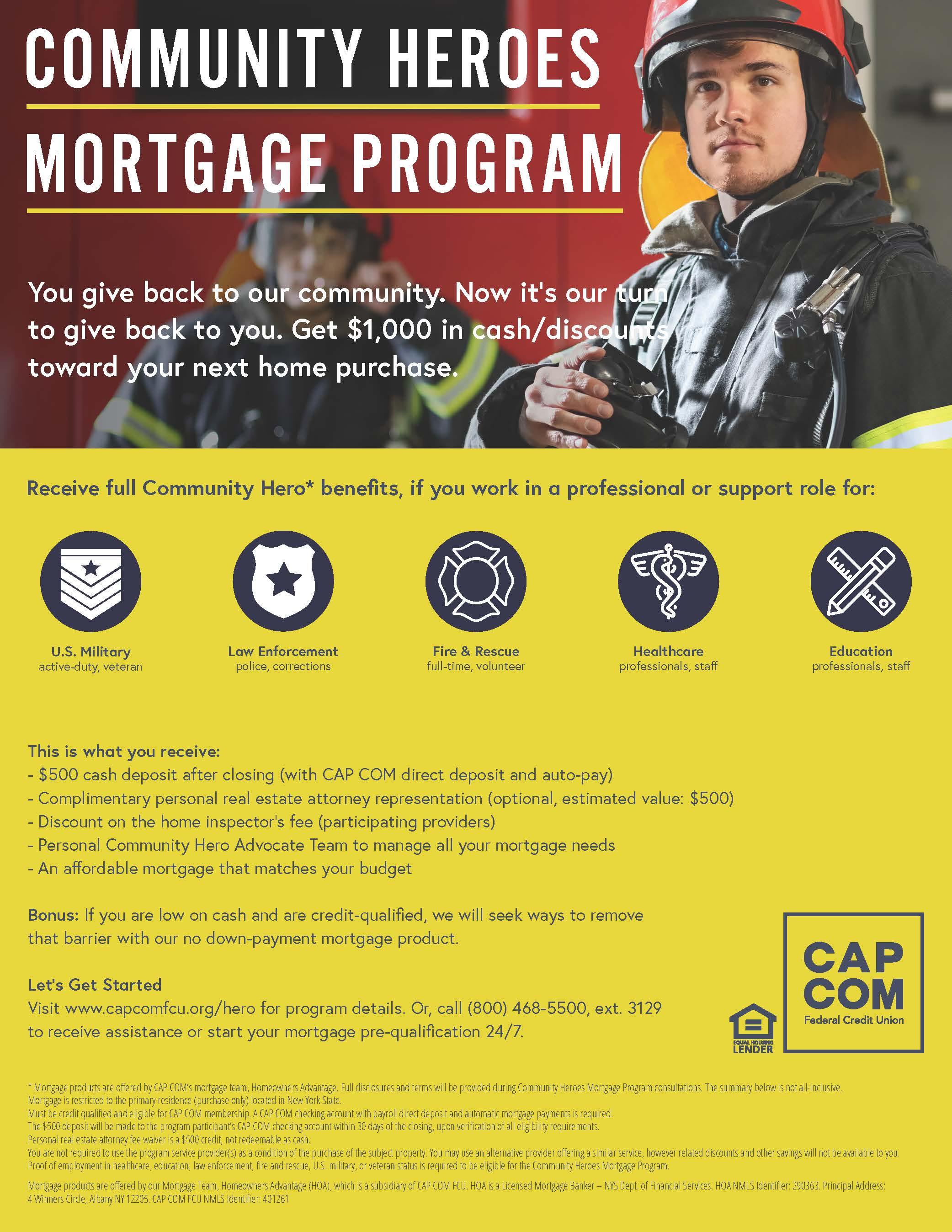 CAP COM Launches Community Heroes Mortgage Program | WBC Voice